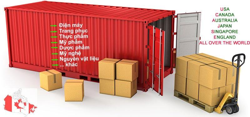 Dịch vụ vận chuyển hàng hóa đi Canada